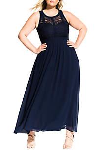 4d0bbd74c5a ... City Chic Plus Size Maxi Paneled Bodice Dress