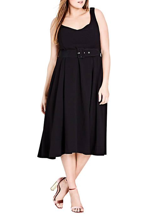 City Chic Plus Size Little Black Tea Length