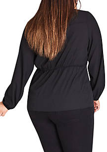 dc90cd3557f ... City Chic Plus Size Knot Front Top ...