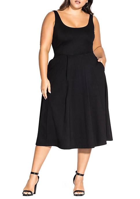 City Chic Plus Size Classic Longline Dress