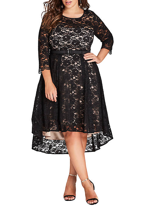 City Chic Plus Size Lace Lover Dress
