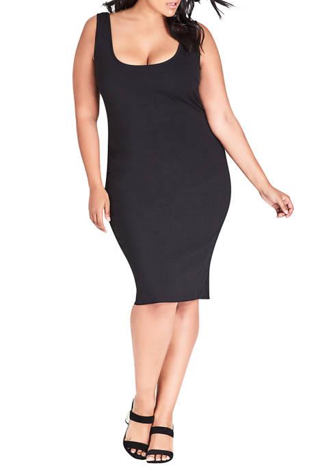 Plus Size Basic Bodycon Dress