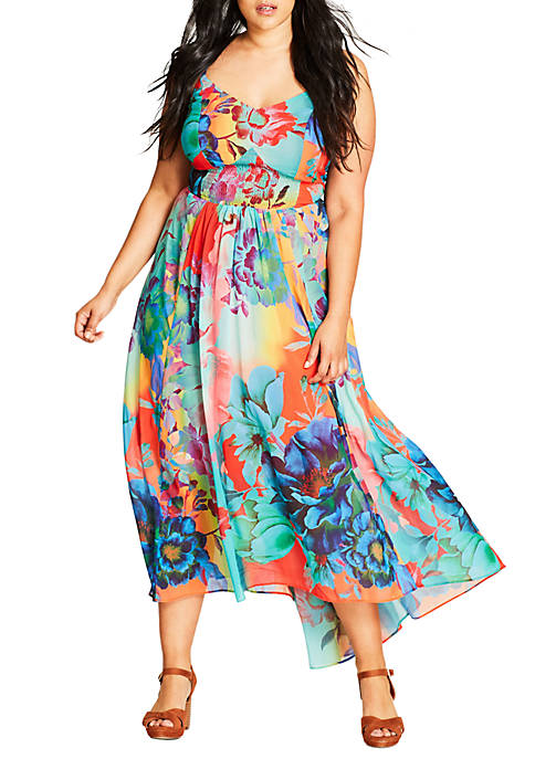 City Chic Plus Size Hot Summer Days Maxi