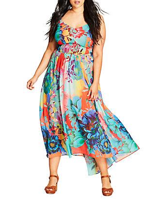 Plus Size Hot Summer Days Maxi Dress