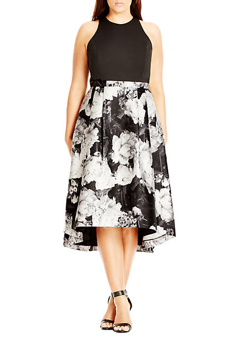 City Chic Plus Size Victoria Printed Fit and