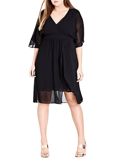 Plus Size Love Affair Chiffon Overlay Dress