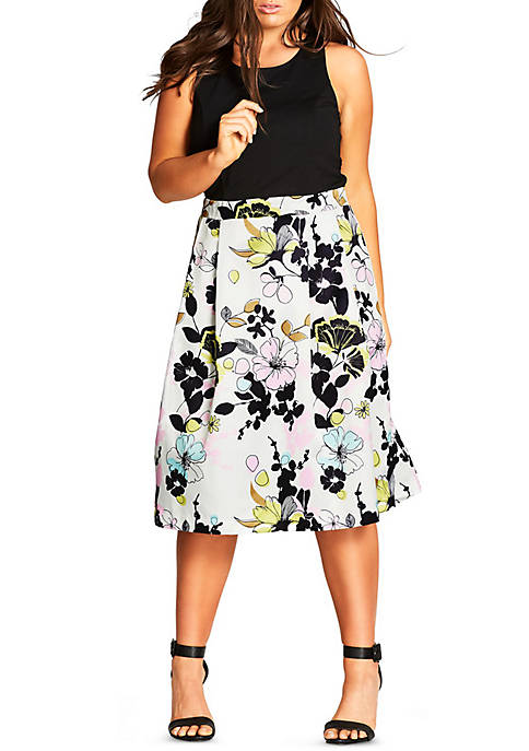 City Chic Plus Size Art Darling Dress