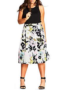 City Chic Plus Size Art Darling Dress