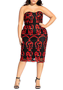 City Chic Plus Size Dolce Rose Dress