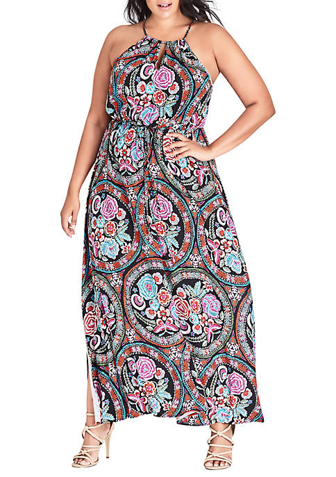 City Chic Plus Size Maxi Folklore
