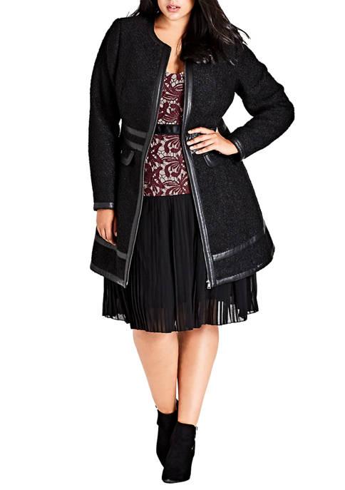City Chic Plus Size Coat Winter Escape