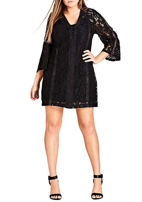 City Chic Plus Size Innocent Lace Dress