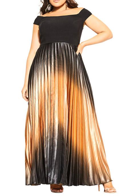 Plus Size Maxi Passion Ombre Dress