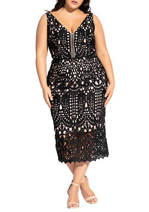 City Chic Plus Size All Class Dress