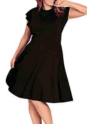 cec05961692 City Chic Plus Size Frill Shoulder Dress ...