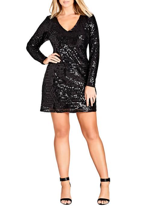City Chic Plus Size Bright Lights Dress