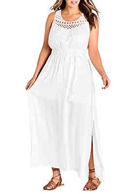 197e114820e1 City Chic Plus Size Crochet Detail Maxi Dress ...