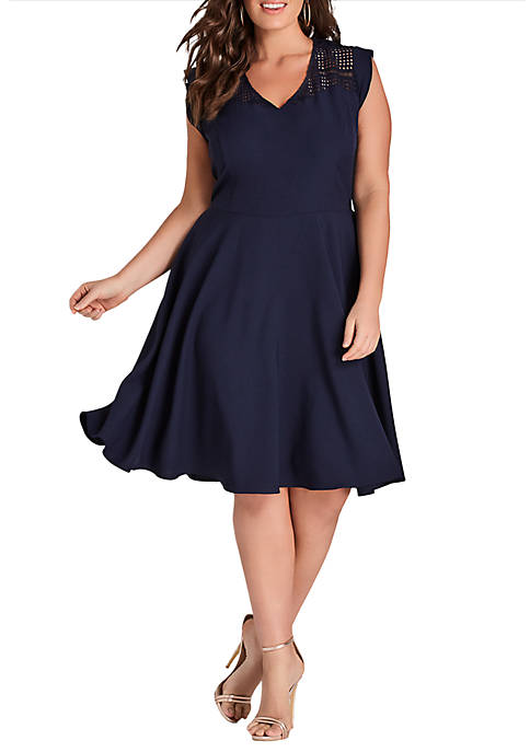 City Chic Plus Size First Place Dress