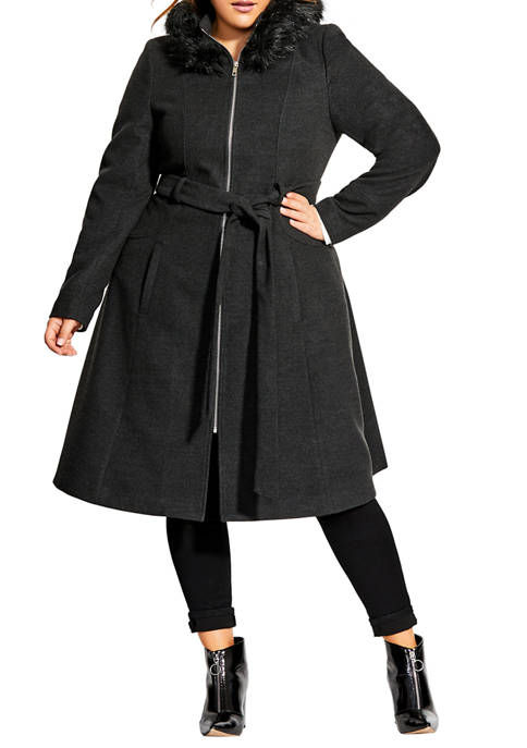 City Chic Plus Size Coat Miss Mysterious