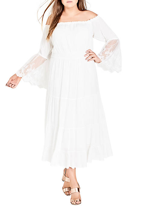 City Chic Plus Size Ethereal Maxi Dress