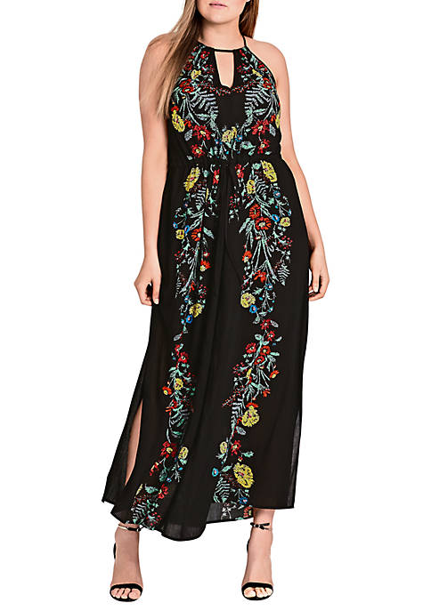 City Chic Plus Size Secret Vine Maxi Dress