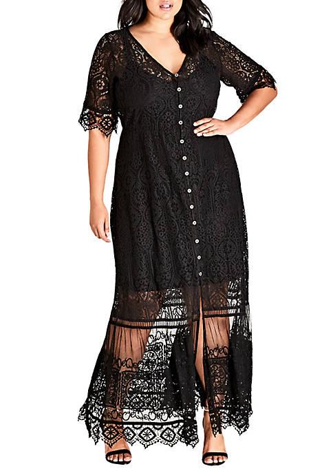 Plus Size Summer Lace Maxi Dress