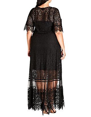 City Chic Plus Size Summer Lace Maxi Dress | belk