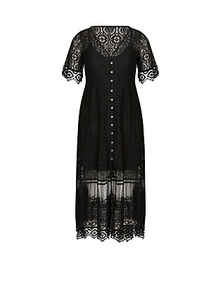 City Chic Plus Size Summer Lace Maxi Dress   belk