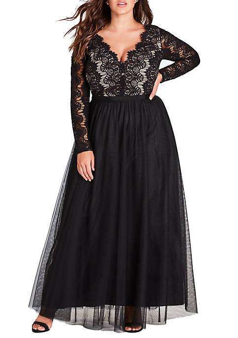 City Chic Plus Size Rare Beauty Maxi Dress