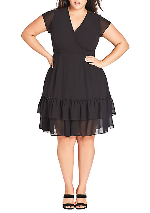 City Chic Plus Size Dreamy Flirt Dress