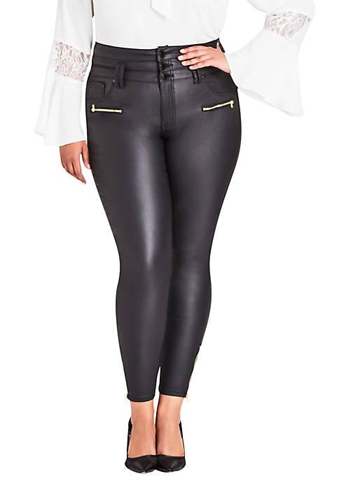 City Chic Plus Size Skylar Corset Skinny Jeans