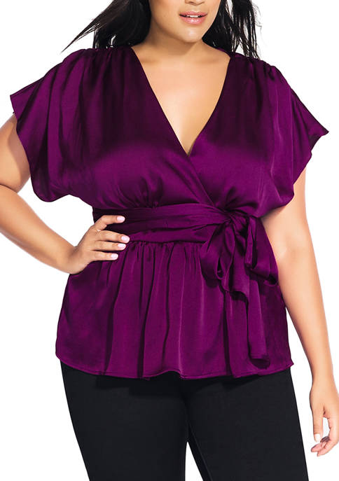 City Chic Plus Size Tangled Top