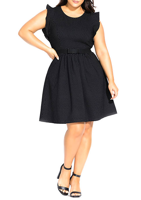 City Chic Plus Size Cutie Bow Dress