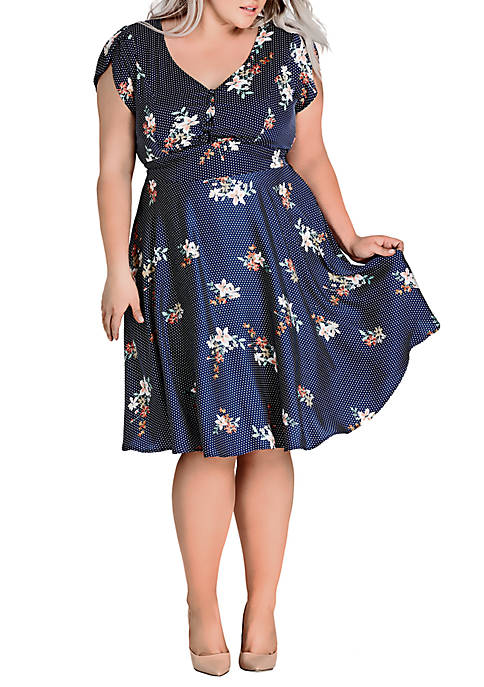 City Chic Plus Size Sweet Spot Floral Dress