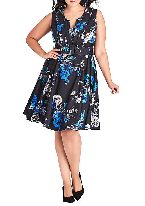 City Chic Plus Size Bouquet Dress