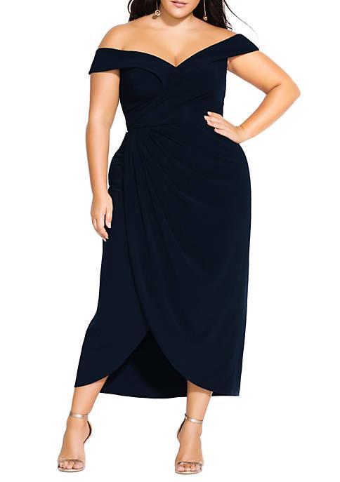 Plus Size Rippled Love Dress