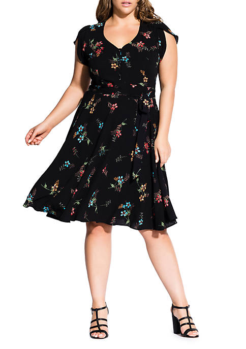 Plus Size Botanical Dress