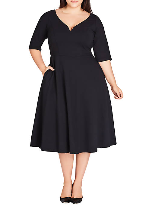 City Chic Plus Size Cute Girl Elbow Sleeve