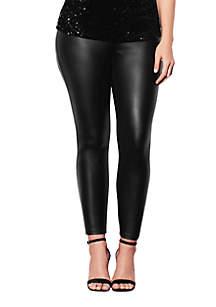 City Chic Plus Size Wetlook Skinny Harley Jeggings