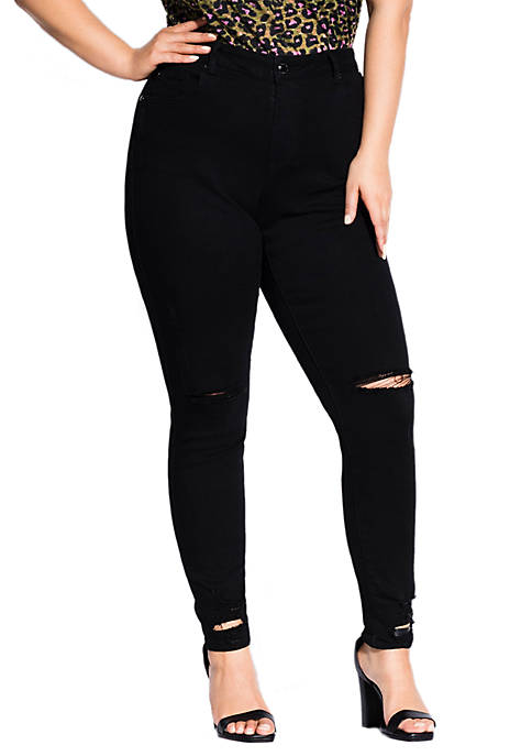 City Chic Plus Size Riot Skinny Jeans