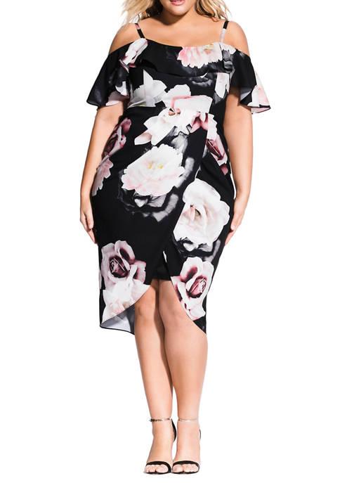 City Chic Plus Size Austin Floral Dress