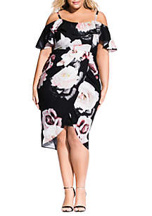 City Chic Plus Size Austin Floral Dress
