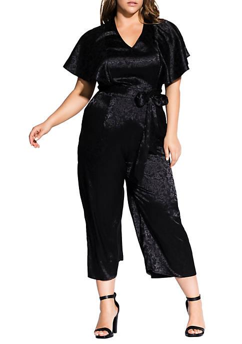 City Chic Plus Size Kimono Sleeve Jumpsuit