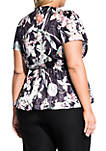 Plus Size Midnight Floral Top