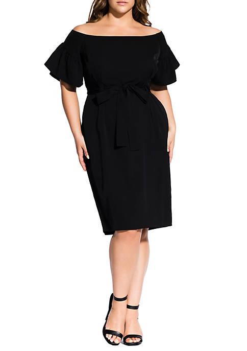 City Chic Plus Size Dainty Sleeve Dress