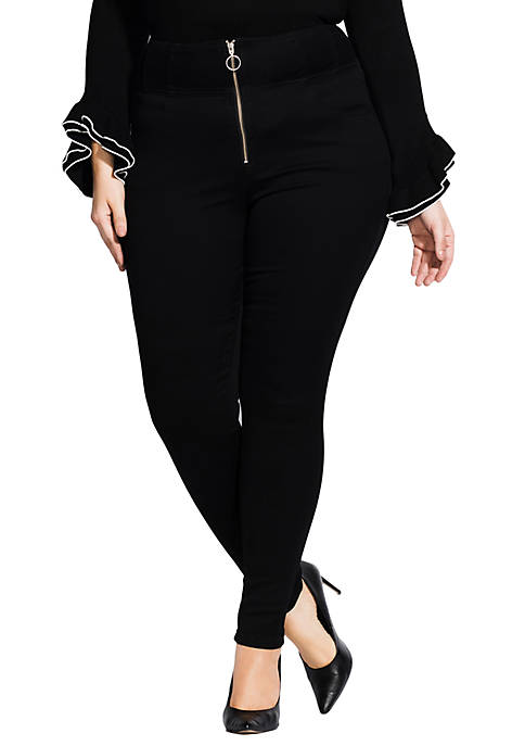 City Chic Plus Size Harley Zip Up Skinny