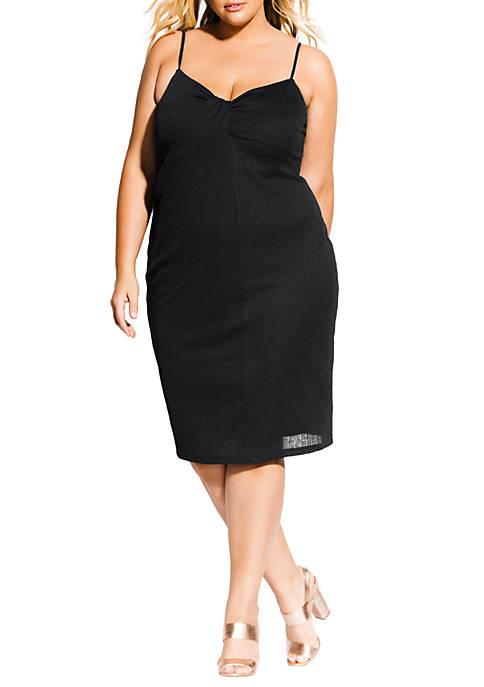 City Chic Plus Size Classic Twist Dress