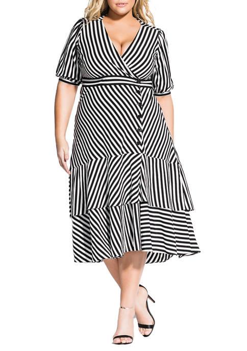 Plus Size Stripe Delight Dress
