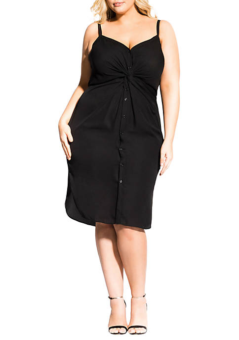Plus Size Strappy Twist Dress