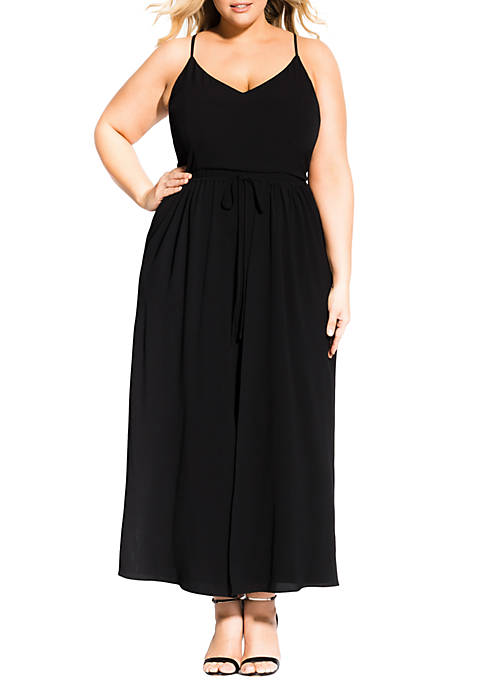 City Chic Plus Size Maxi Divine Overlay Dress